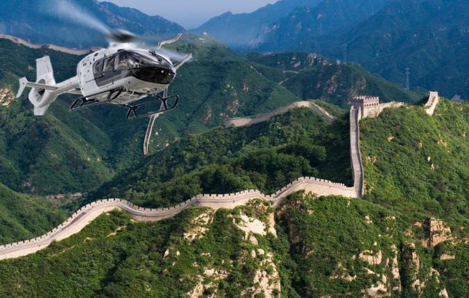 helicopter great wall