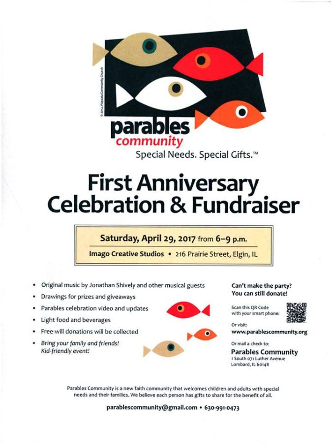 Parables Anniversary Flyer