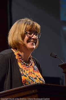 Pastor Jeanne preaching